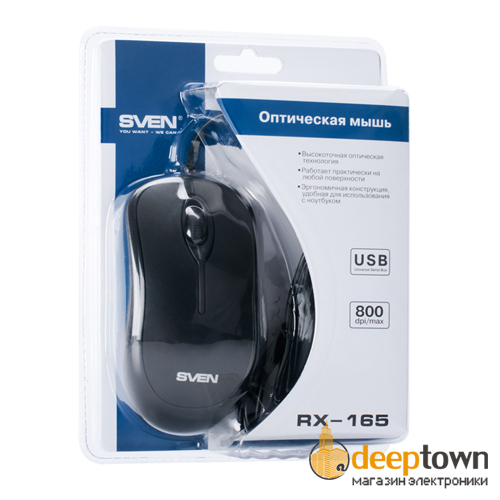 Мышь USB SVEN RX-165 (чёрная)