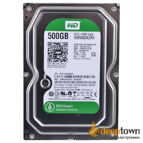 "Жесткий диск 3.5"" Western Digital 500GB WD5000AZRX (7200rpm, 64MB, SATA)"