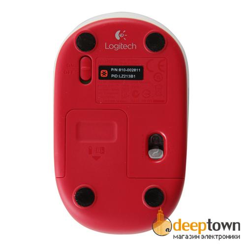 Мышь USB Logitech m187 (красная, 910-002732)