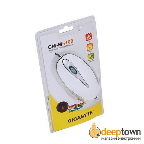 Мышь USB GIGABYTE m5100 (белая)