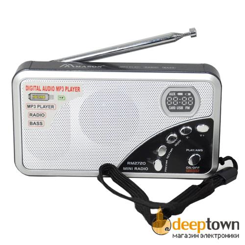 Perfeo радиоприемник цифровой ЕГЕРЬ FM+ MP3 питание USB или BL5C красный i120-RED