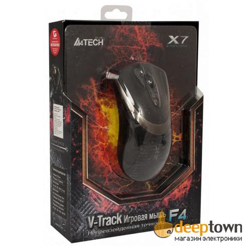 Мышь USB A4TECH X7 F4 (чёрная)