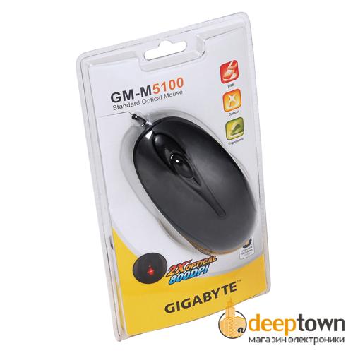 Мышь USB GIGABYTE m5100 (чёрная)