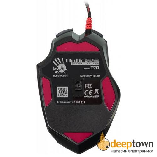Мышь USB A4TECH bloody T70 (чёрная)