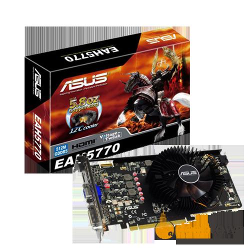 Видеокарта ASUS ATI Radeon HD5770 (512MB, 128bit, EAH5770/2DI/512MD5/A)