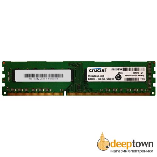 Оперативная память DIMM DDR3 crucial 4GB 1600MHz (CT51264BD160BJ)