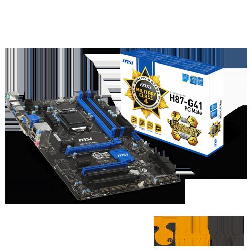 Материнская плата msi H87-G41 PC Mate (Socket:LGA1150, ATX)
