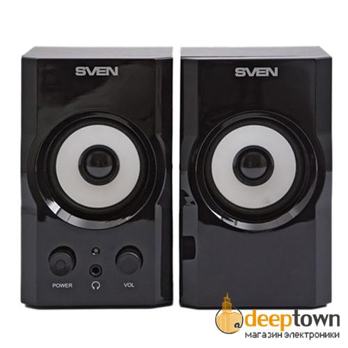 Акустическая система 2.0 SVEN SPS-605 (чёрная)