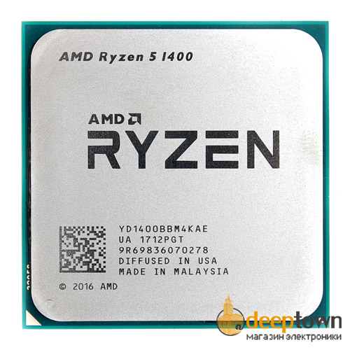 Процессор AMD RYZEN 5 1400 BOX YD1400BBAEBOX (Socket: AM4, 3.2GHz, 10MB)