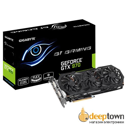 Видеокарта GIGABYTE nVidia GeForce GTX970 (4GB GDDR5, 256 bit, GV-N970G1 GAMING-4GD)
