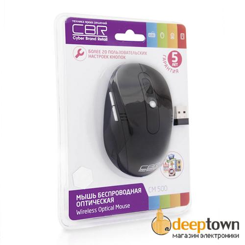 Мышь беспроводная CBR CM 500 (чёрная)