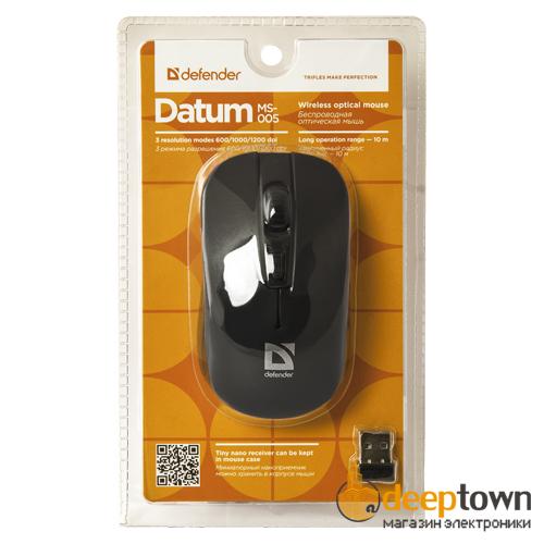 Мышь беспроводная defender Datum MS-005 Art.52005 (черная)
