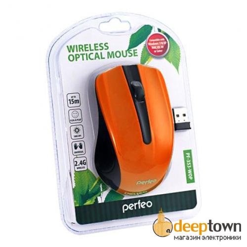Мышь беспроводная perfeo PF-353-WOP-OR (оранжевая)
