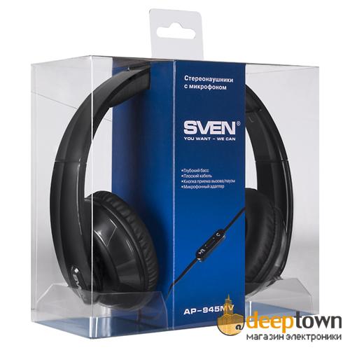 Гарнитура SVEN AP-945MV (чёрная)