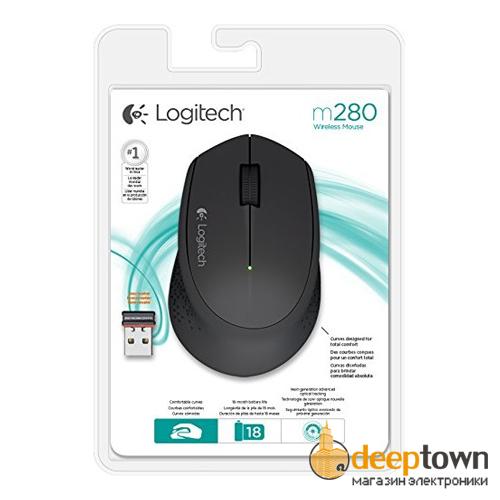 Мышь беспроводная logitech M280 (чёрная, 910-004287)