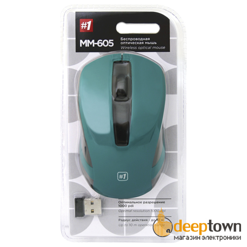 Мышь беспроводная defender MM-605 Art.52607 (зеленая)