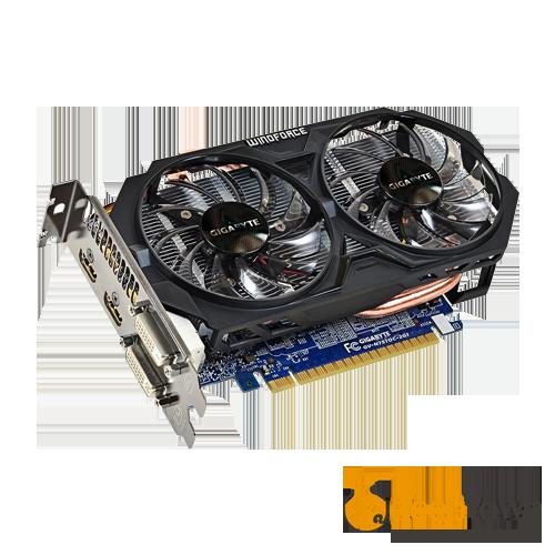 Видеокарта GIGABYTE nVidia GeForce GT750 Ti (2GB GDDR5, 128bit, GV-N75TOC-2GI)