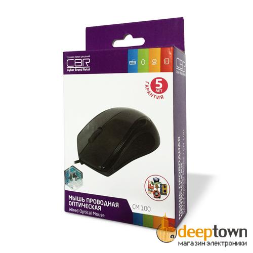 Мышь USB CBR CM 100 (чёрная)