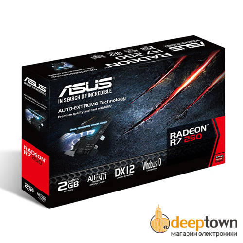 Видеокарта ASUS AMD Radeon R7 250 (2GB DDR5, 128bit, R7250-2GD5)
