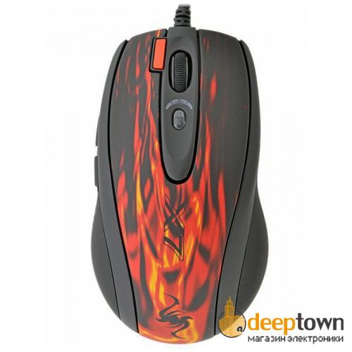 Мышь USB A4TECH XL-750BK (красная)