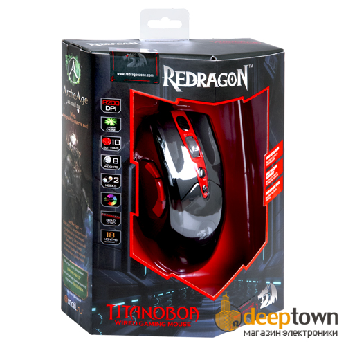 Мышь USB REDRAGON TITANOBOA Art.70243 (чёрная)