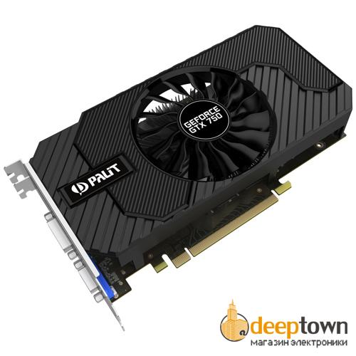 Видеокарта PALIT nVidia GeForce GTX750 (2GB GDDR5, 128bit, NE5X750THD41-2065F)