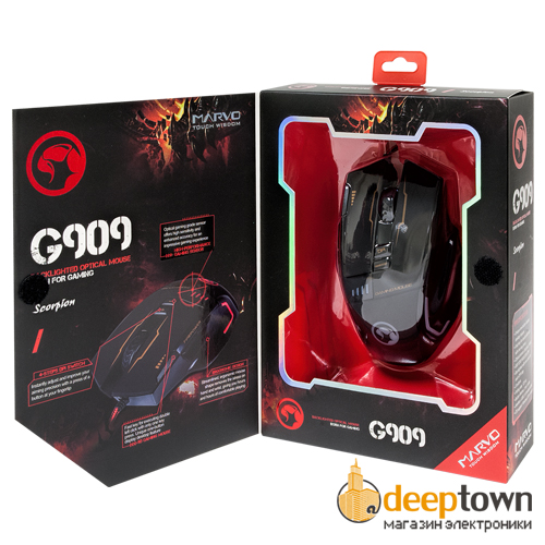 Мышь USB MARVO Scorpion G909 (чёрная)