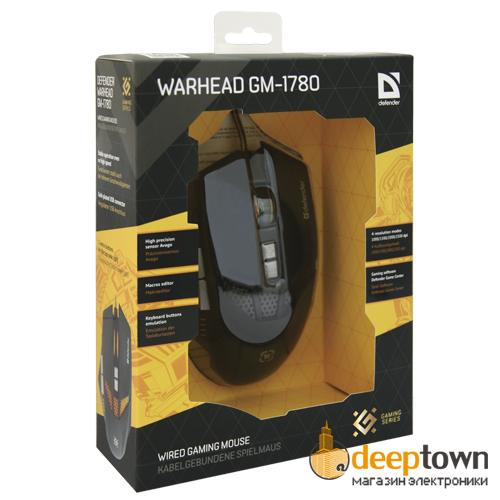 Мышь USB defender WARHEAD GM-1780 Art.52780 (чёрная)