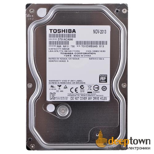 "Жесткий диск 3.5"" TOSHIBA 500GB DT01ACA050 (7200rpm, 32MB, SATA)"