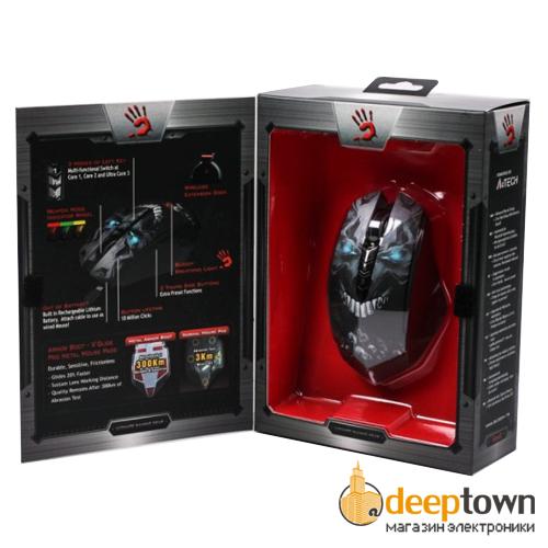 Мышь USB A4TECH R8 Bloody Skull (чёрная)