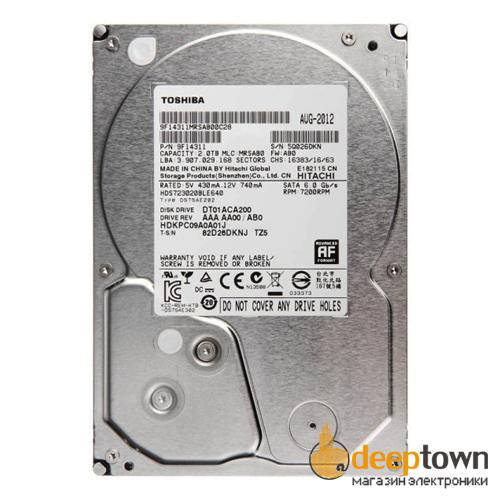 "Жесткий диск 3.5"" TOSHIBA 2TB DT01ACA200 (7200rpm, 64MB, SATA)"