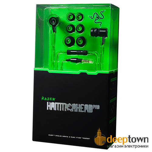 Гарнитура razer HAMMERHEAD pro RZ04-00910100-R3M1 (зелёная)