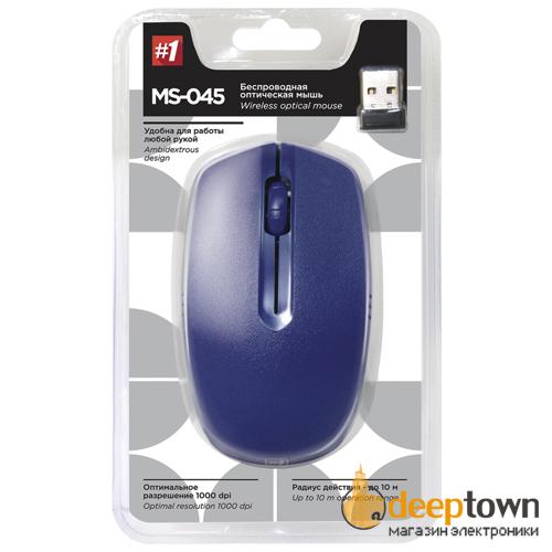 Мышь беспроводная defender MS-045 Art.52047 (синяя)