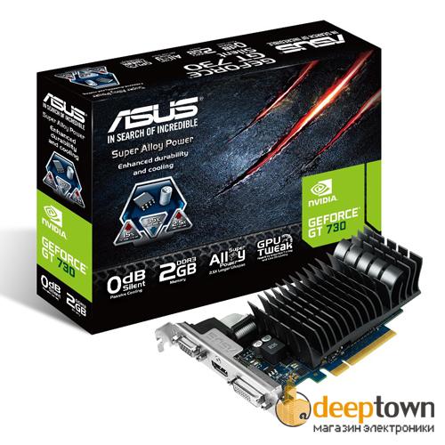 Видеокарта ASUS nVidia GeForce GT730 (2GB GDDR3, 64bit, GT730-SL-2GD3-BRK)