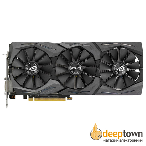 Видеокарта ASUS nVidia GeForce GTX 1060 (6GB GDDR5, 192bit, STRIX-GTX1060-6G-GAMING)