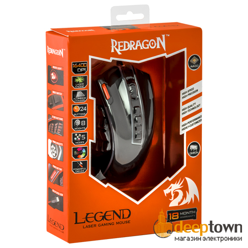 Мышь USB REDRAGON LEGEND Chroma M990 RGB