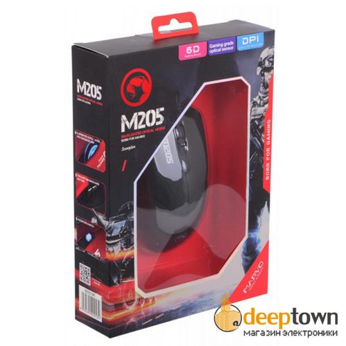 Игровая проводная мышь MARVO M205 BK