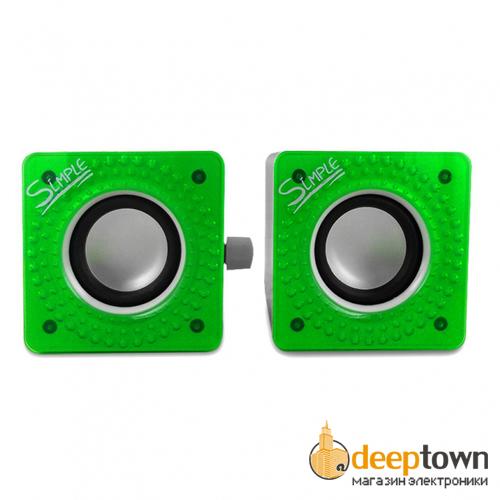Акустическая система 2.0 CBR Simple S27 (зелёная)