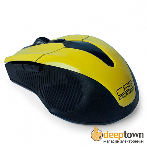 Мышь беспроводная CBR CM 547 (желтая)