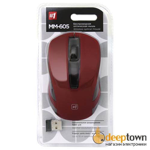 Мышь беспроводная defender MM-605 Art.52605 (красная)