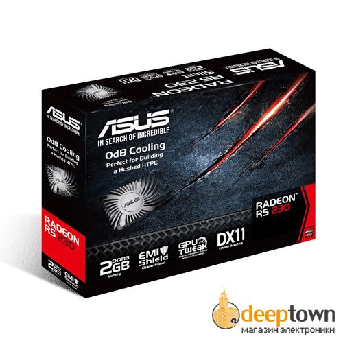Видеокарта ASUS AMD Radeon R5 230 (2GB GDDR3, 64bit, R5230-SL-2GD3-L)