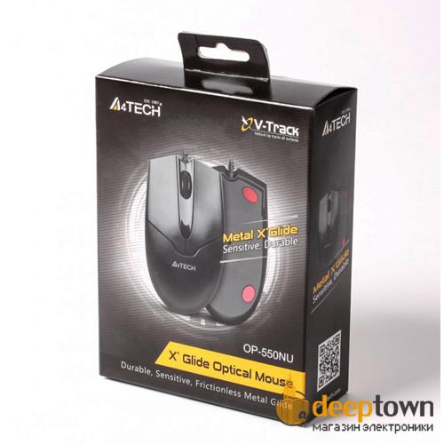 Мышь USB A4TECH OP-550NU (чёрная)