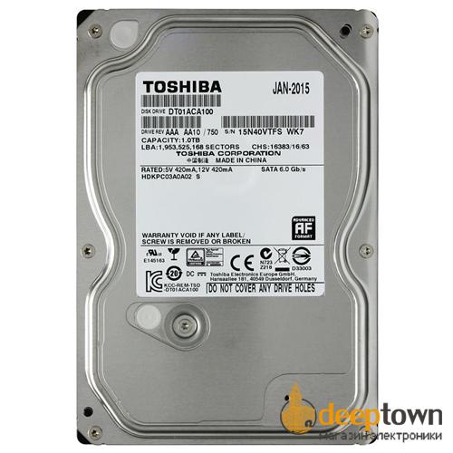 "Жесткий диск 3.5"" TOSHIBA 1TB DT01ACA100 (7200rpm, 32MB, SATA)"