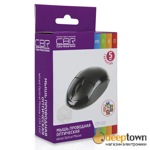 Мышь USB CBR CM 102 (чёрная)