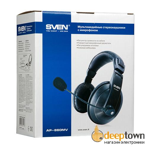Гарнитура SVEN AP-860MV (чёрная)