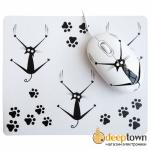 Мышь USB + коврик CBR Crazy Cat SET 703