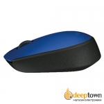Мышь беспроводная USB Logitech m171 (синяя, 910-004640)