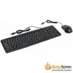 Комплект USB мышь + клавиатура Oklick 600M чёрный