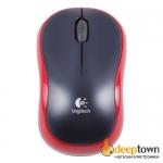 Мышь беспроводная USB Logitech m185 (красная, 910-002240)