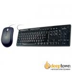 Комплект USB мышь + клавиатура perfeo PF-618 PF-618/89-MM/OP (чёрный)